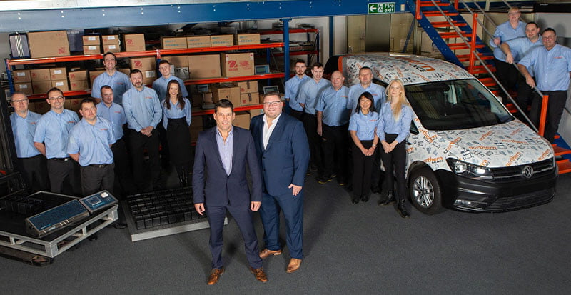 A group shot of the Northern Balance team at their HQ in Gateshead